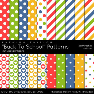 Back To School Patterns Premium Edition Preview