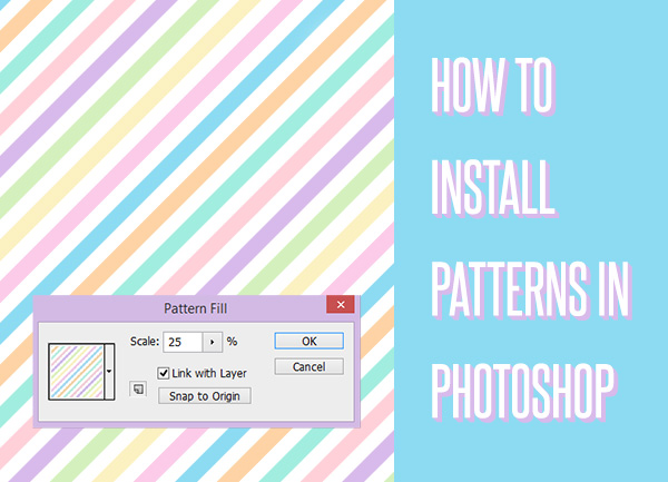 How To Install Patterns In Photoshop