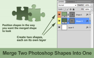 Merge Photoshop Shapes Into One
