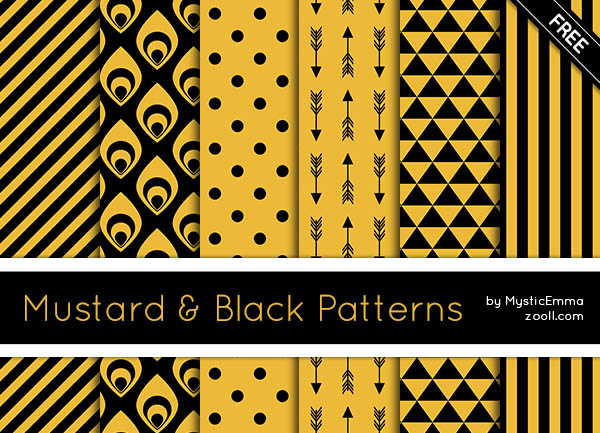 Mustard & Black Patterns Preview