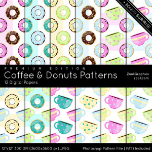 Coffee & Donuts Patterns Premium Edition Preview