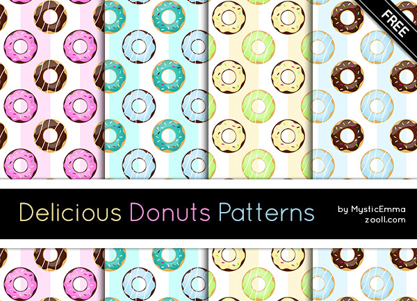 Delicious Donuts Patterns Preview