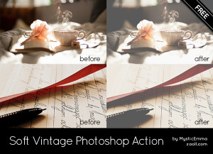 Soft Vintage Photoshop Action Preview