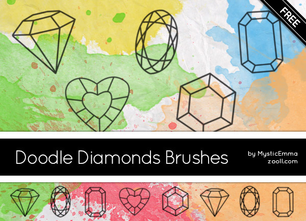 Doodle Diamonds Brushes Preview