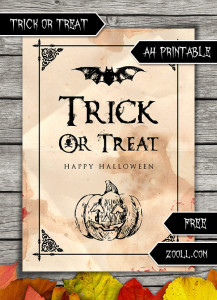 Trick Or Treat Halloween A4 Printable Preview