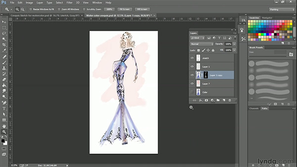 Photoshop fashion design tutorial: How to create a watercolor look