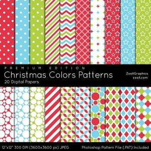 Christmas Colors Patterns Premium Edition Preview