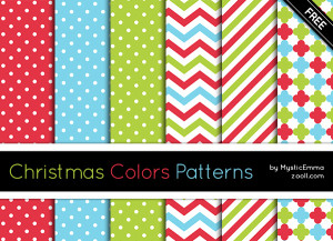 Christmas Colors Patterns Preview