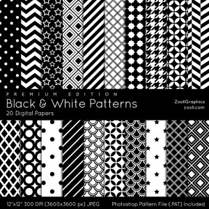 Black And White Patterns Premium Edition Preview
