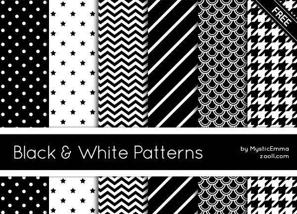 Black And White Patterns Preview