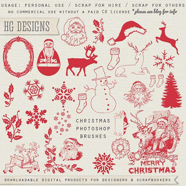 Christmas Photoshop Brushes