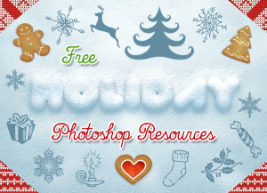 Free Holiday Photoshop Resources Preview