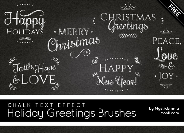 Holiday Greetings Brushes Preview
