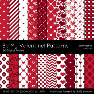 Be My Valentine Patterns Preview
