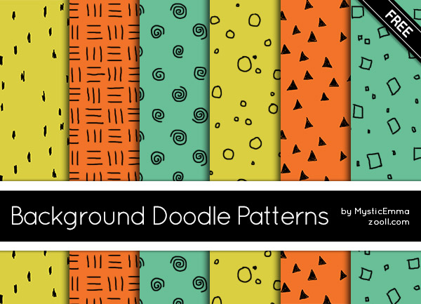 Background Doodle Patterns Preview