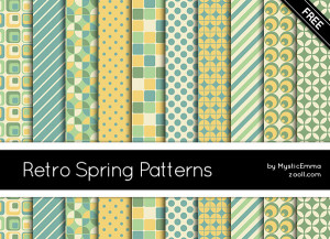 Retro Spring Patterns Preview