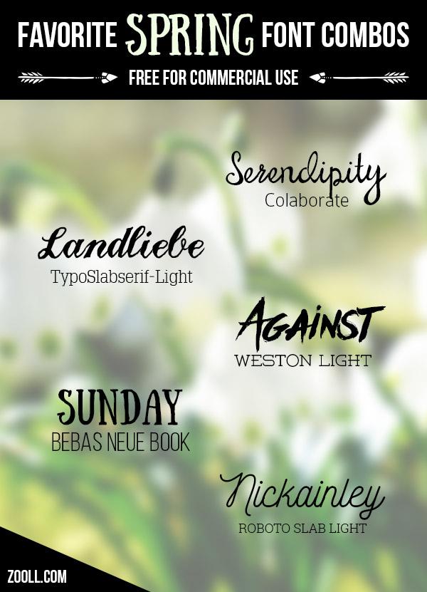Favorite Spring Font Combos