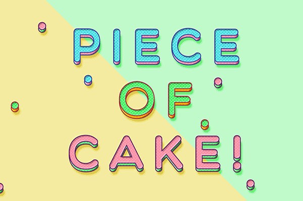 Piece Of Cake Text Effect