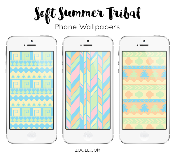Soft Summer Tribal Phone Wallpapers Preview