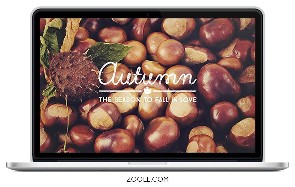 Autumn Desktop Wallpaper Mock Up