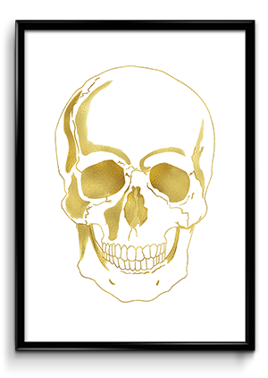 Gold Skull Poster Zooll Preview 300x422