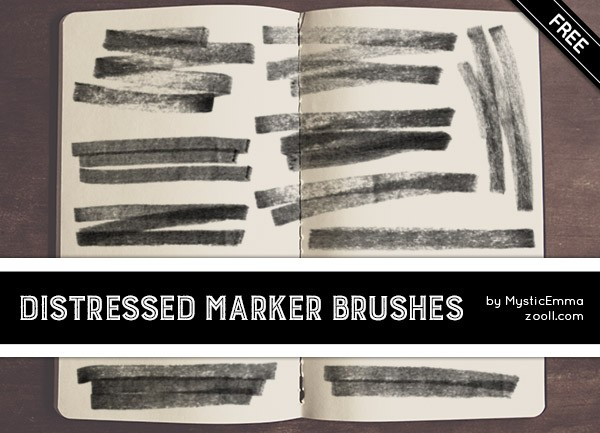 Distressed Marker Brushes Preview