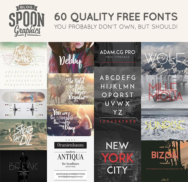 Must Have Free Fonts