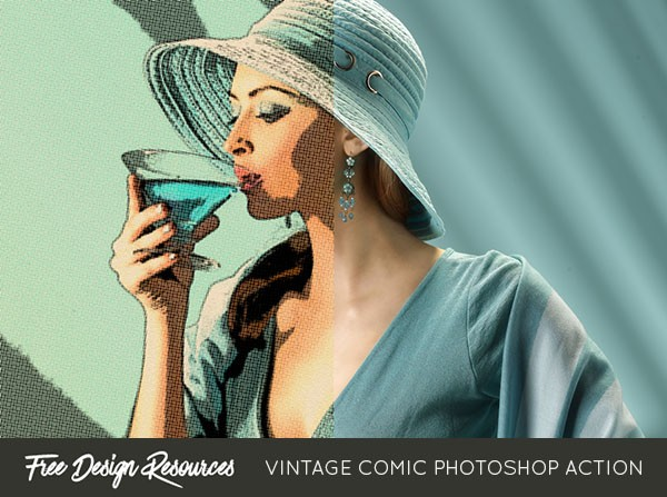 Vintage Comic Photoshop Action
