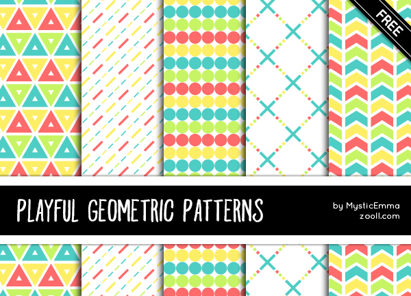 Playful Geometric Patterns Preview