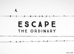 Escape The Ordinary.