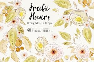 Free Watercolor Flowers