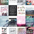 Inspirational Quotes Printable Stickers Preview