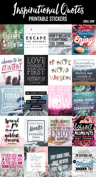 printables inspirational quotes printable stickers zooll com