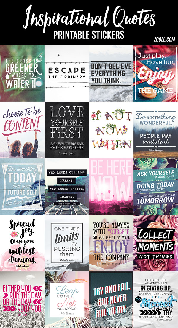 photo regarding Printable Inspirational Quotes known as  Printables: Inspirational Estimates Printable Stickers