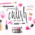 Free Watercolor Make-up Elements
