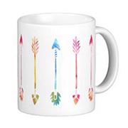Bohemian Watercolor Arrows Pattern Mug