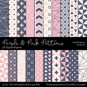 Purple And Pink Patterns Preview