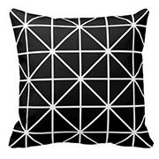 Black And White Geometric Pillow