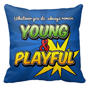 Young&Playful Inspirational Pillow