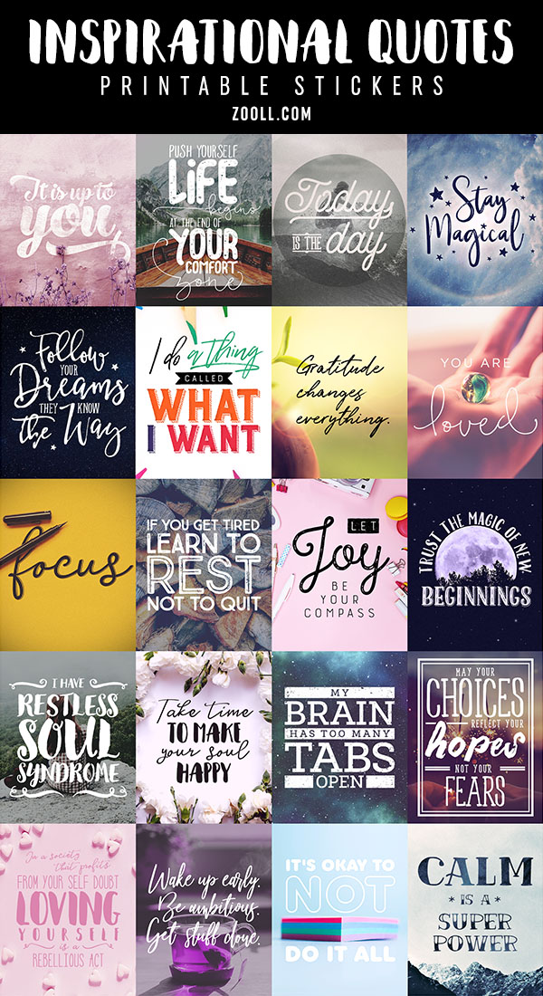Printables: Inspirational Quotes Printable Stickers 3 ...