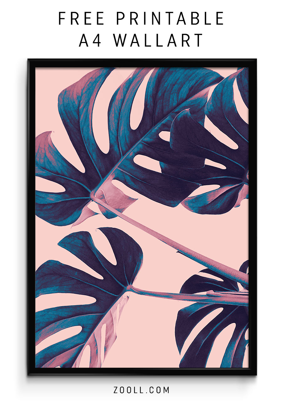 photo about Printable Graphics called  Printables: Palm Leaf A4 Print